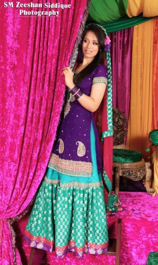 Pakistani bridal mehndi dresses 2013 trends - mehndi outfits