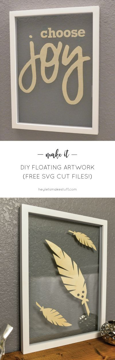 Make some simple floating artwork using your cricut explore get free svg cut files