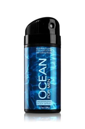 Ocean For Men - Deodorizing Body Spray - Signature Collection - Bath & Body Works - All-over body spray with an unforgettable, masculine scent and deodorizing protection. Use in the morning, after the gym or to refresh yourself throughout the day.