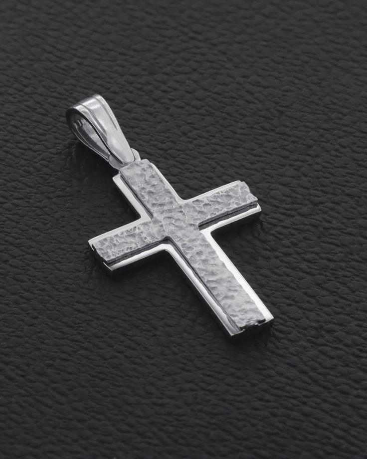 Βαπτιστικός Σταυρός δυο όψεων Λευκόχρυσος Κ14  | eleftheriouonline.gr
