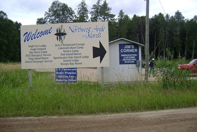 """The Northwest Angle and Islands are located 60 miles North of Roseau, or Warroad through Manitoba, Canada. The Northwest Angle and Islands are located at the Top of the Nation – or the """"Chimney"""" of Minnesota."""