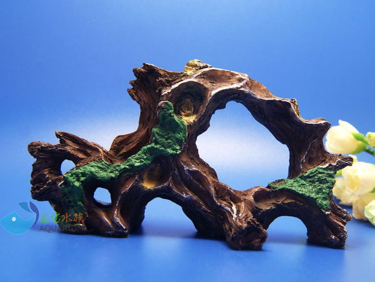 Tree trunk Aquarium Ornament Driftwood poly resin Decor root Decaying AK591 #dragonbao