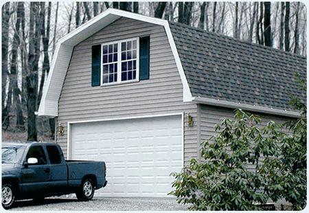 Two Car Wood Garage Kit 20 x 24 Lewisburg - Prep for Vinyl