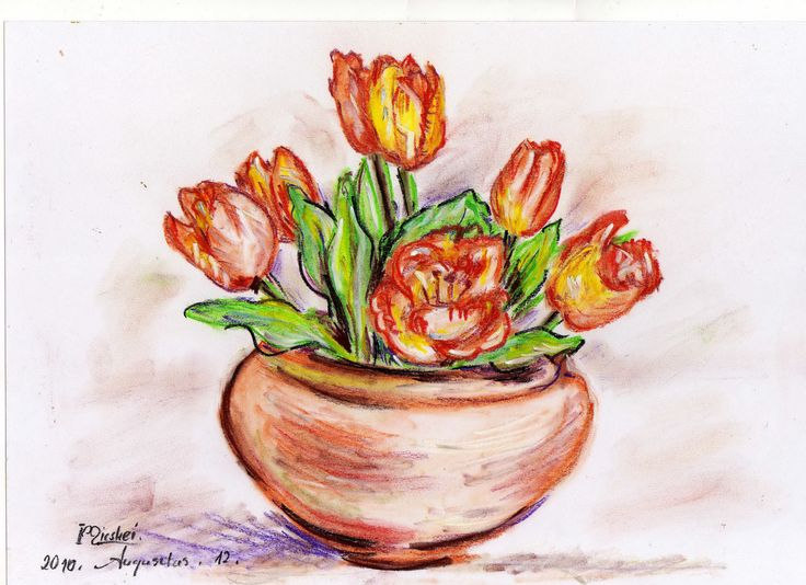 tulipánok...pasztell