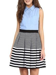 Buy Multi Colored Jersey Skater Dress by Miss Chase - Online shopping for Dresses in India | 12478216