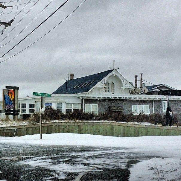 Black Pelican Restaurant in Kitty Hawk, North Carolina :: January 29, 2014 :: #snOBX