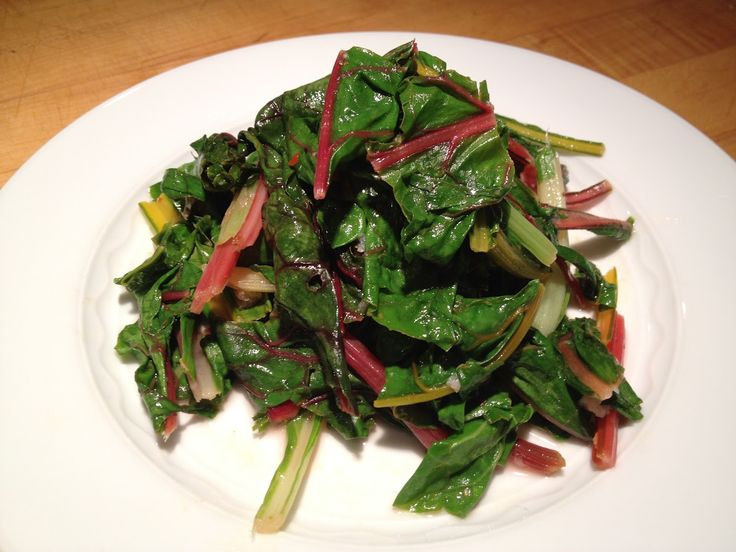 Sauteed Swiss Chard with Lemon and Garlic