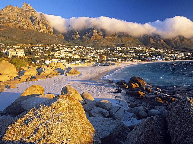 Clifton Beach and Table mountain, Cape Town- South Africa