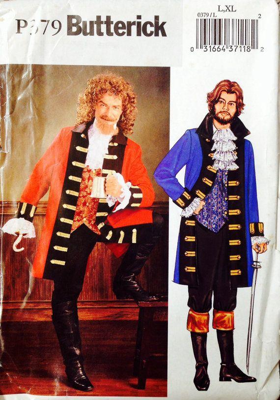 P379 Butterick UNCUT Men's Pirate Costume by Lonestarblondie, $12.00