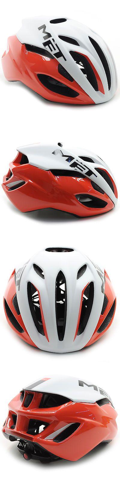 Helmets 70911: Met Rivale Road Bike Helmet // Red/White // Large -> BUY IT NOW ONLY: $79.95 on eBay!