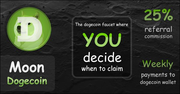 The dogecoin faucet where YOU decide when to claim!