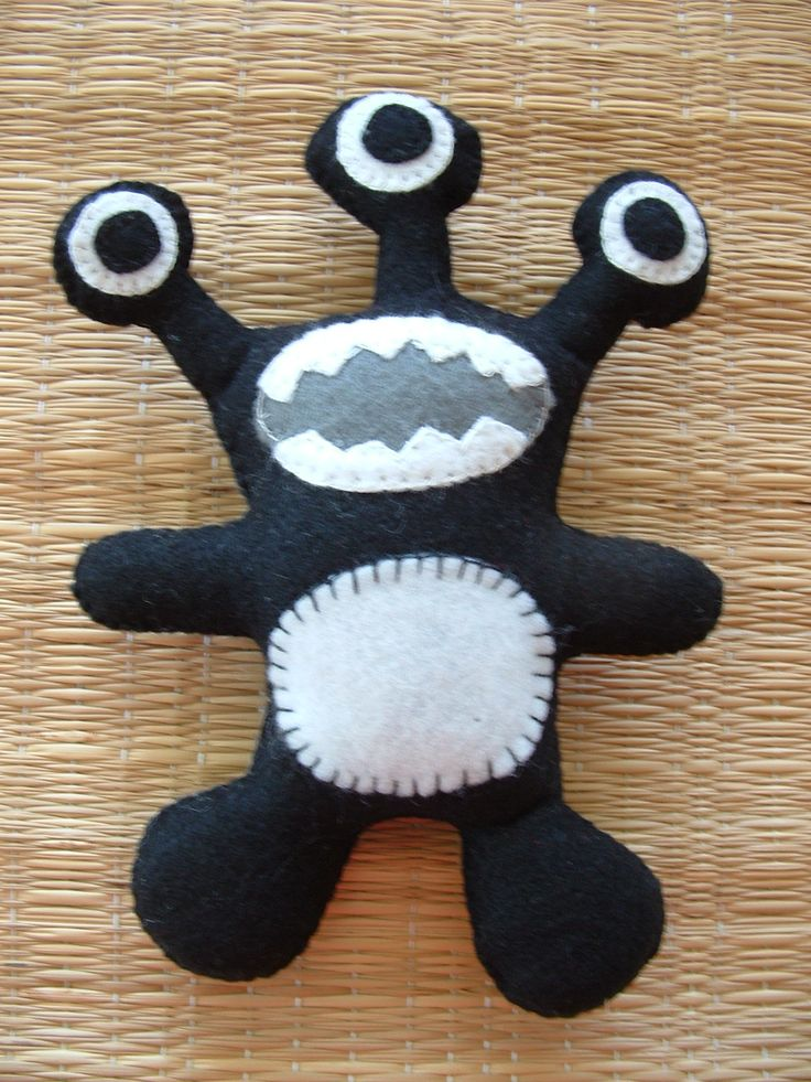 Monster Sewing Patterns | PDF Digital Sewing Pattern - Felt Macot Monster - Donated by ...