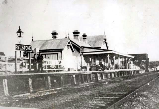 Rylstone Railway Station in New South Wales (year unknown).