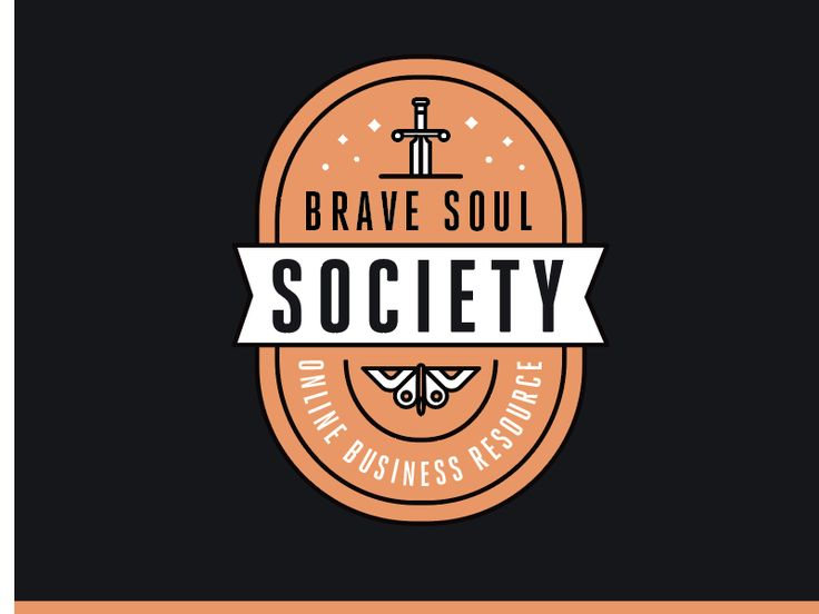 Brave Soul Society Logo by Kelly Thompson #Design Popular #Dribbble #shots