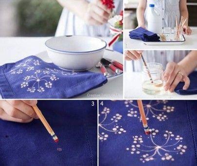 Pintar tela con goma de borrar!