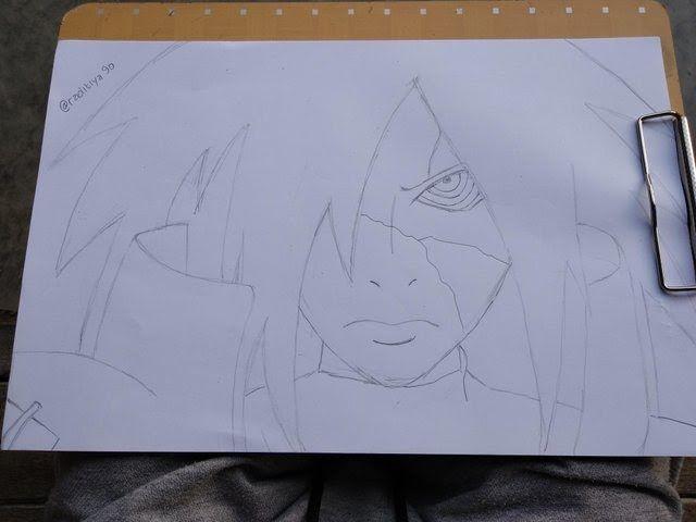 Terbaru 30 Gambar Anime Keren Menggunakan Pensil Learn To Draw Naruto Anime Madara Belajar Menggambar Download 20 Gambar Sketsa Kumpulan Gambar Skets Bifold