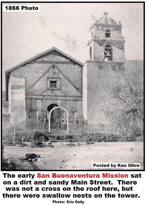 The early San Buenaventura mission. 1866