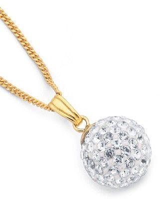 9ct Crystal Pendant