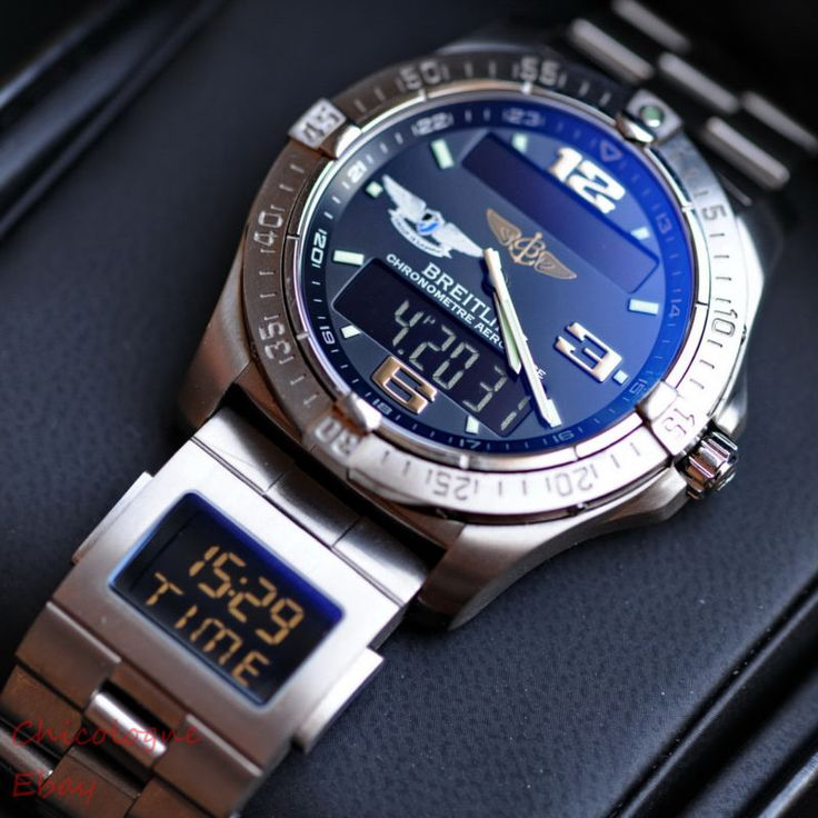 Breitling AEROSPACE Avantage UTC co-pilot men's watch, alarm GMT titanium
