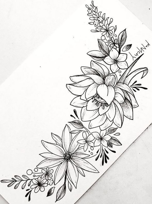 Beautiful Flower Tattoo Drawing Ideas For Women 1 Wagepon Ideas In 2020 Flower Tattoo Drawings Beautiful Flower Tattoos Flower Art Drawing