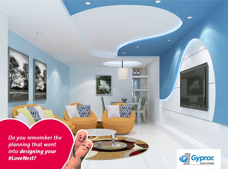 A lot of planning must have gone into making your house a home. Install this stunning #falseceiling in your #LoveNest & experience that same excitement again. Visit www.gyproc.in