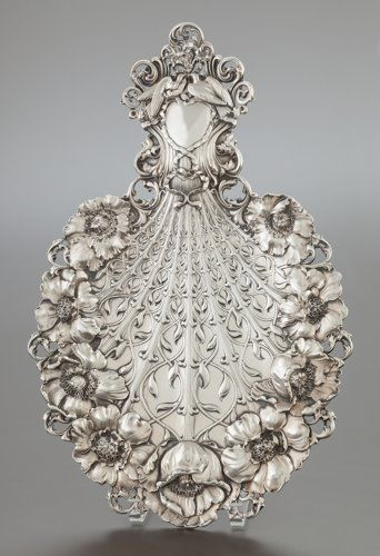 A TIFFANY & CO. SILVER BOUQUET-FORM SERVING TRAY . Tiffany& Co., New York, New York, circa 1901-1902. Marks: TIFFANY& CO...
