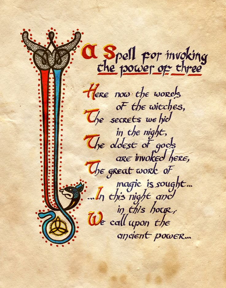 """A Spell for invoking the power of three"" - Charmed - Book of Shadows"
