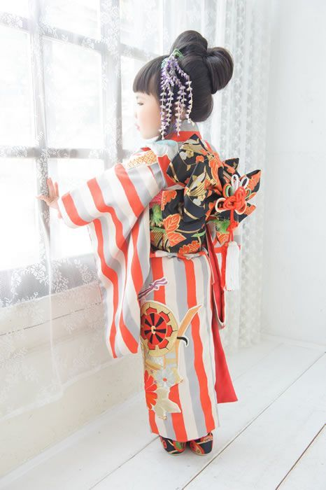 How adorable is this little kimono and obi -