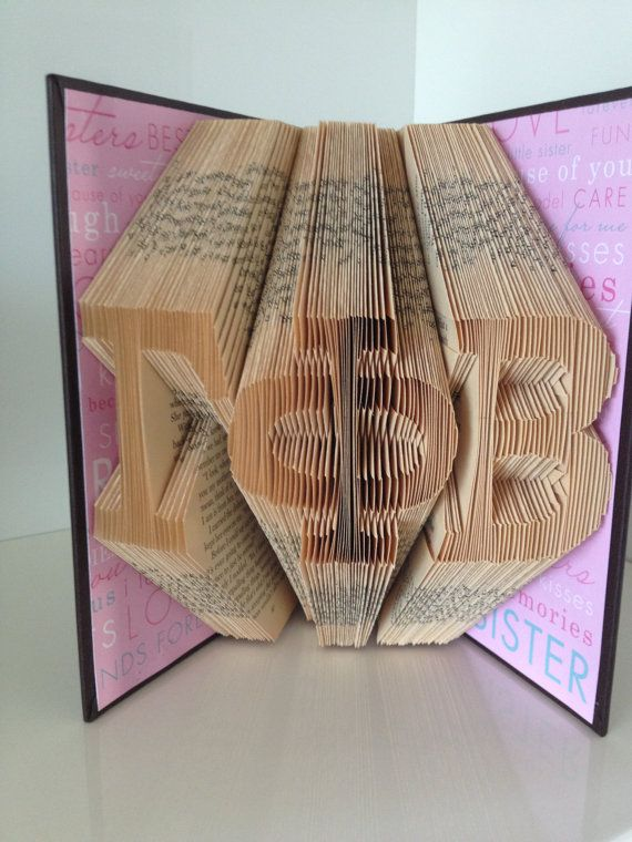 Gamma Phi Beta - Folded Book Sculpture  by Reading With Scissors
