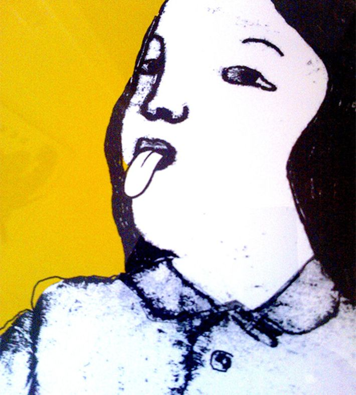 50cm x 70cm.  Gislee print from mono print.  High quality epson ink on 300gr mat white art paper. This image is also visualized as a Lino print see: Conjoined #2 Packed and send in a protective tube.  Danish artist Monika Petersen studied illustration at St Martins College of Art and Design UK. Following her graduation, she worked in London for several years before returning to Copenhagen where she is now based.  Her work has been featured in many magazines including Elle, cover and Ru…