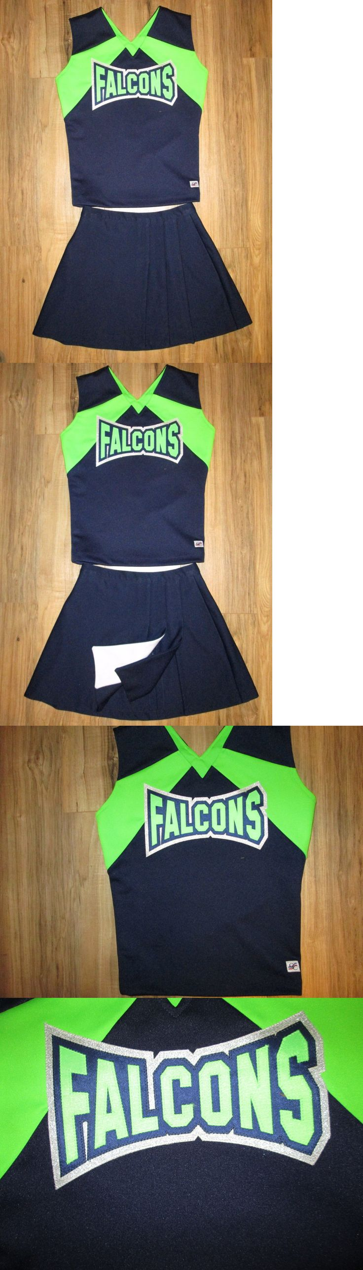 Cheerleading 66832: Falcons Cheerleader Uniform Outfit Fun Costume Navy Neon Green 34 Top 25 Waist -> BUY IT NOW ONLY: $36.0 on eBay!