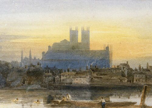 David Cox, Westminster from Lambeth
