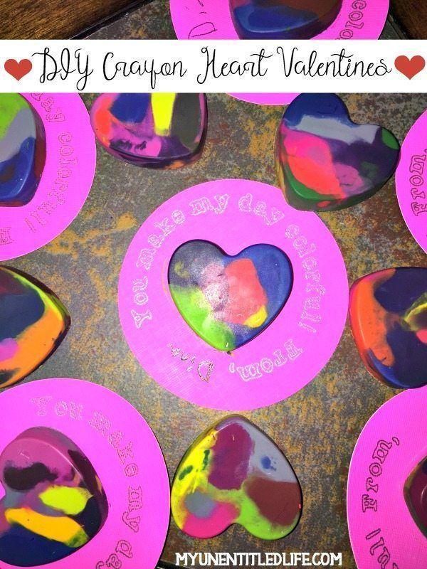 Valentine Crayon Hearts. 403 best valentines day crafts ...