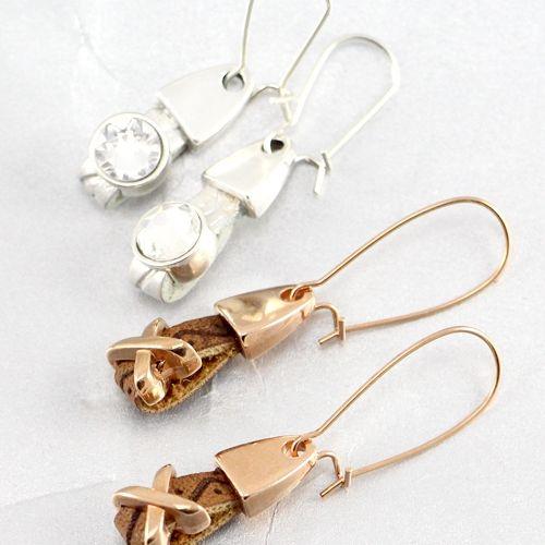 Handgemachte Armbänder und Ohrringe aus trendy flachem Imitat Leder!