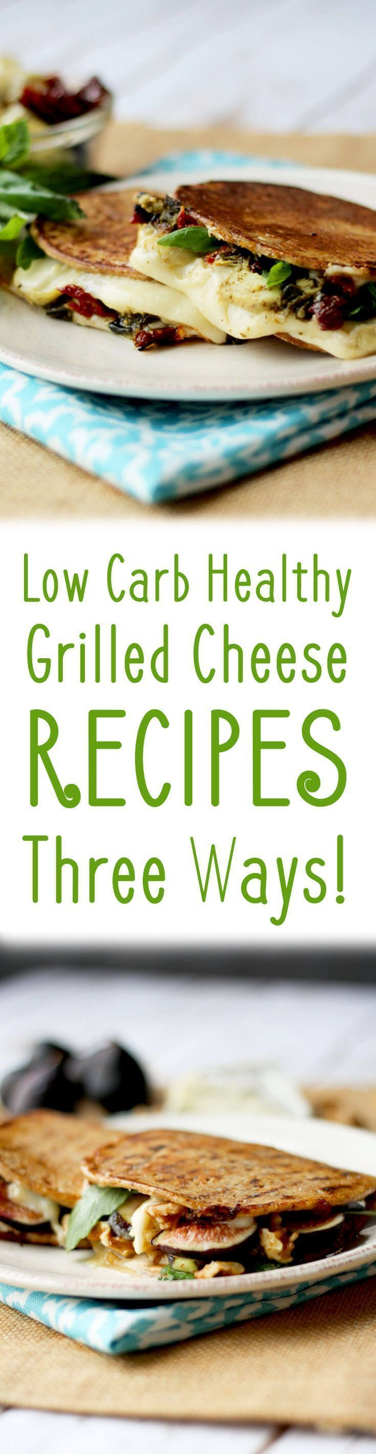 These three low carb healthy grilled cheese recipes will help you get your cheese fix without the carb load! Bring on the cheese, lovelies!