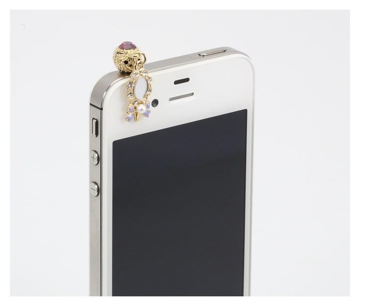Phone Cap inserted ihpone. Tiny mirror decorated. Price $19.99  / 미러장식 핸드폰캡