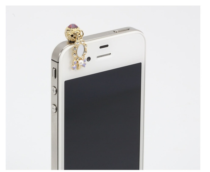 Phone Cap inserted ihpone. Tiny mirror decorated. Price $19.99  / 미러장식 핸드폰캡