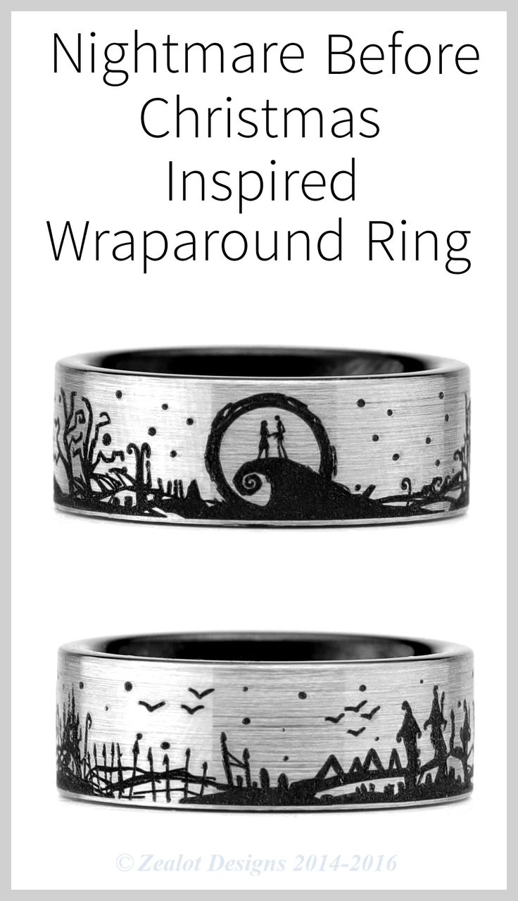 Steal Christmas with this Nightmare Before Christmas Wraparound Ring.  Perfect as a gift for your special one, or for yourself.