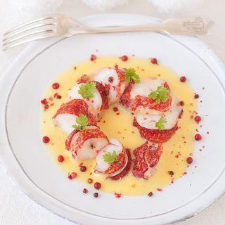Queues de homard au sabayon de champagne
