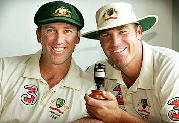2 of Australia's best ever, Glen McGrath & Shane Warne.