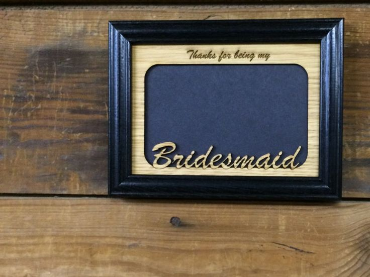 Are you looking for a custom gift? Check this out! legacyimages on Etsy: 8x10 Bridesmaid Picture Frame Bridal Party Gift Bridesmaid Gift Laser Engraved Frame Thank You Gift (27.95 USD) #EtsyGifts #Handmade #PictureFrames
