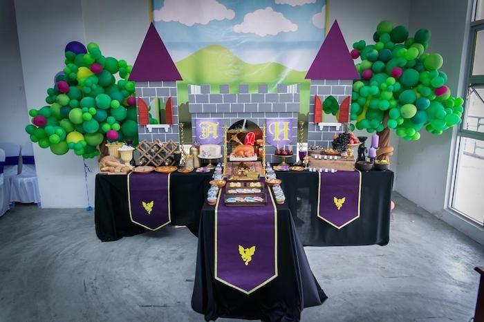 Medieval Knight Themed Birthday Party With So Many