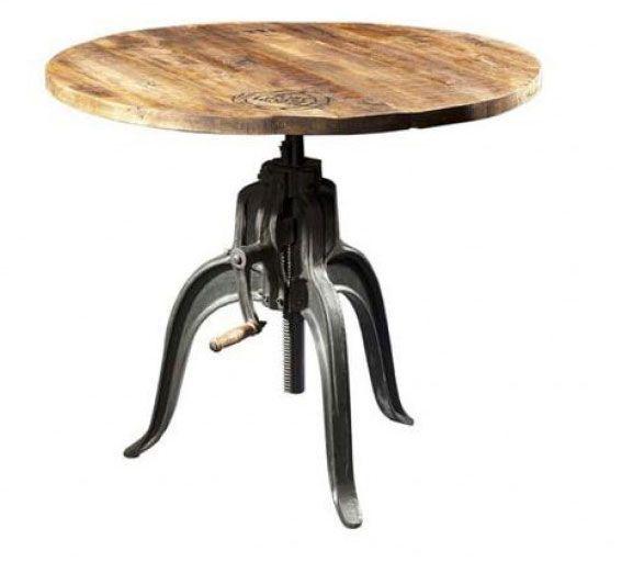Industrial Chic Tisch Aus Eisen Verstellbar Industriedesign