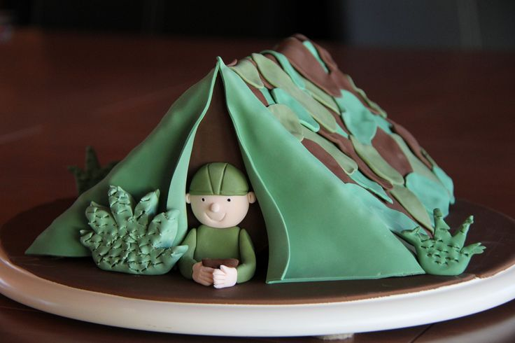 Army tent cake | I can't take the credit for this cake, I ac… | Flickr