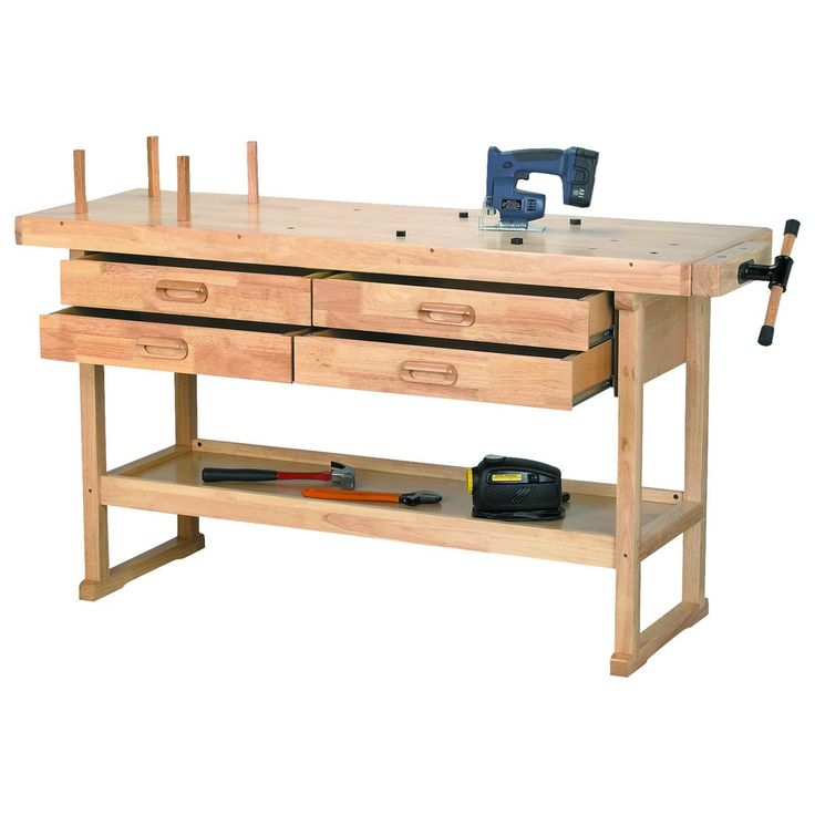 """60"""" Workbench with 4 Drawers from Harbor Freight."""