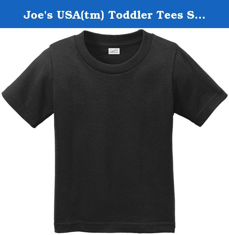 Joe's USA(tm) Toddler Tees Soft and Cozy Cotton T-Shirt Size-2T,Jet Black. Infant Soft and Cozy Cotton T-Shirts in 12 Colors. Infant Sizes: 2T, 3T, 4T. 5.4-oz 100% Cotton T-shirts. Printed with Joe's USA Logo.