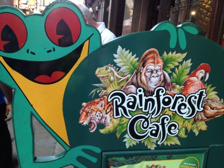 If you're staying in Central London, take a walk on the wild side and go to the Rainforest Cafe. This tropical eatery recreates the sights and sounds of the rainforest with animated gorillas, elephants and butterflies. Kids meals cost £12.50 for a main course, dessert and drink. An activity pack is available for an additional £3.