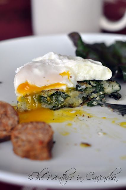 Cakes with Poached Eggs & Spicy Italian Sausage: A Holiday Breakfast ...