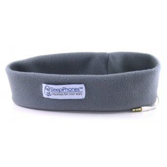 If you like falling asleep to music, this soft SleepPhone headband is a great solution.  http://www.pricerunner.co.uk/pli/94-2867131/Headphones/AcousticSheep-SleepPhones-Compare-Prices#search=sleepphonessort=4q=sleepphones