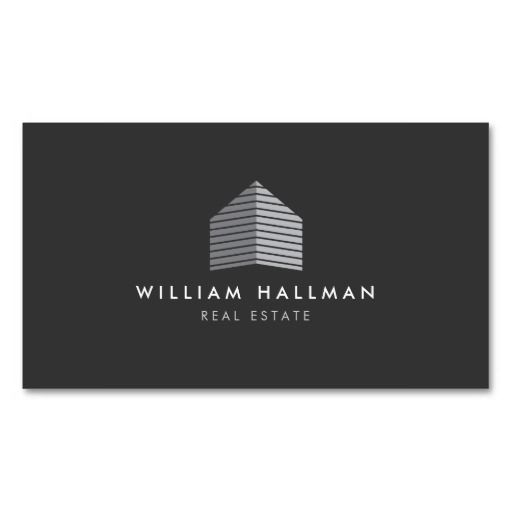 334 best estate agent business card templates images on pinterest modern gray home builder real estate business card accmission Image collections